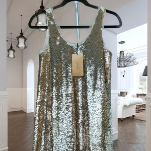 Zara Evening Collection Gold Sequence Mini dress